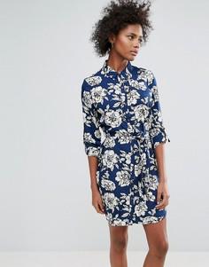 Платье-рубашка с принтом Urban Bliss Yvonne - Темно-синий