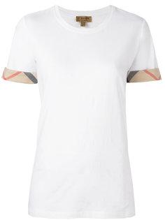 футболка с окантовкой в клетку Burberry