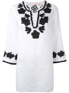 блузка с цветочной вышивкой Tory Burch