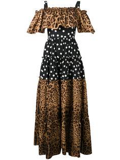 платье макси с принтом Dolce & Gabbana