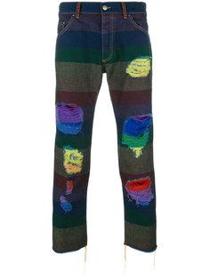 джинсы с радужным принтом Palm Angels