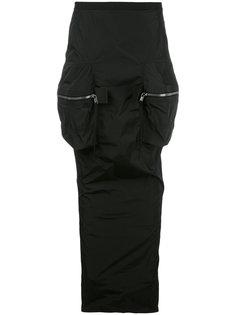 длинная юбка карго Rick Owens