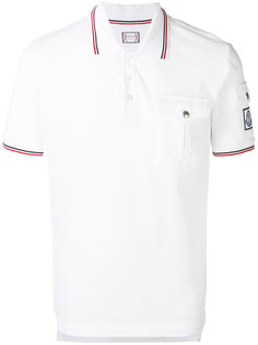 рубашка-поло с контрастными полосками  Moncler Gamme Bleu