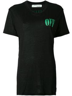 футболка с принтом на спине Off-White