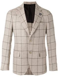 пиджак в клетку Lardini