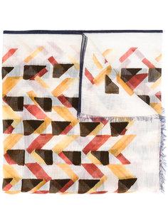 шарф с геометрическим принтом Canali