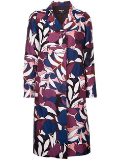 пальто с цветочным принтом Paule Ka