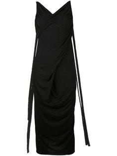 платье миди с глубоким вырезом сзади  Rick Owens Lilies