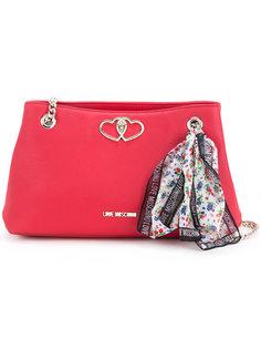 сумка на плечо с платком Love Moschino