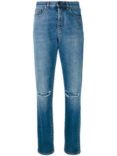 джинсы кроя слим с разрезами Saint Laurent