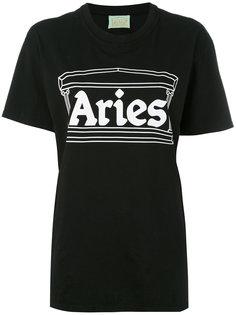футболка с принтом-логотипом Aries
