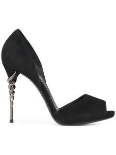 туфли на спиралевидном каблуке Le Silla