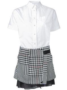 платье комбинированного кроя Sacai