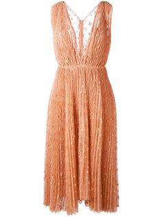 платье с вышивкой звезд Maria Lucia Hohan