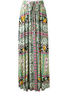 плиссированная юбка с цветочным принтом Etro