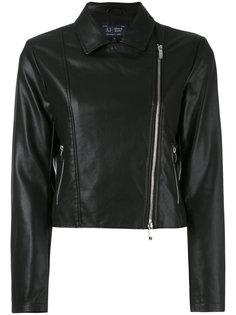 классическая байкерская куртка Armani Jeans
