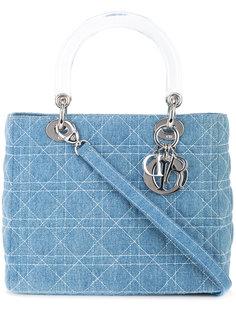 джинсовая сумка Lady Dior Cannage Christian Dior Vintage