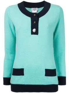 свитер с планкой спереди  Chanel Vintage