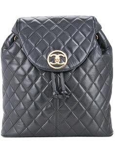 стеганый рюкзак с логотипом CC Chanel Vintage