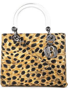 сумка-тоут с леопардовым принтом Lady Dior Christian Dior Vintage