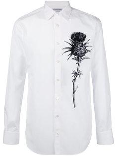рубашка с принтом цветка Alexander McQueen