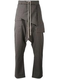 драпированные брюки с заниженной проймой Rick Owens DRKSHDW