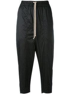 укороченные спортивные брюки с заниженной проймой Rick Owens DRKSHDW