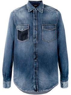 джинсовая рубашка с потертой отделкой Nº21