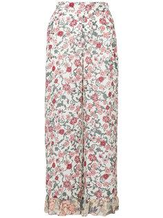 брюки-палаццо с цветочным принтом See By Chloé