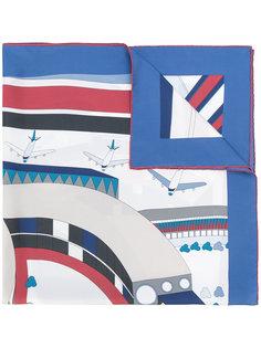 платок с принтом логотипа Chanel Vintage