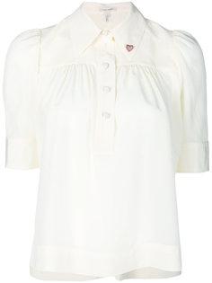 блузка с сердечками на воротнике и укороченными рукавами Marc Jacobs