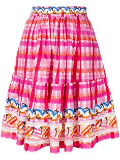 клетчатая пышная юбка Peter Pilotto