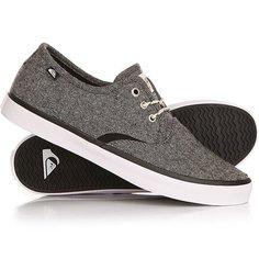 Кеды кроссовки низкие Quiksilver Shorebreak Delu Grey/Black/White