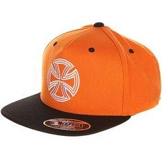 Бейсболка с прямым козырьком Independent One Ten Snapback Orange/Black