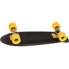 Скейт мини круизер Globe Bantam-mash Ups Black/Raw/Yellow 6.5 x 24 (61 см)