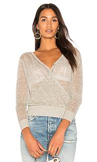 Прозрачный свитер с запахом - Callahan