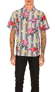 Цветочная рубашка в горошек - Stussy