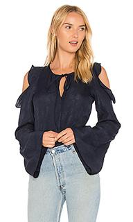 Блуза с рюшами и вырезами на плечах - DEREK LAM 10 CROSBY