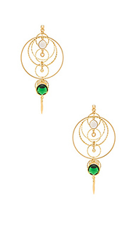 Circle pendant earrings - Haus Of Topper
