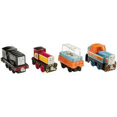 Набор из 3-х паровозиков с вагончиком, Томас и его друзья Mattel
