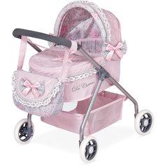 """Коляска с сумкой """"Романтик"""", розовая, 56 см, DeCuevas"""