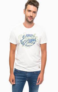 Белая футболка с контрастным принтом Jack & Jones