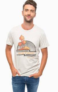 Серая хлопковая футболка Jack & Jones