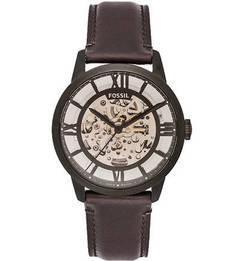 Часы с кожаным браслетом и высокой степенью водостойкости Fossil