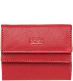 Кожаный кошелек с застежкой на два клапана Mano