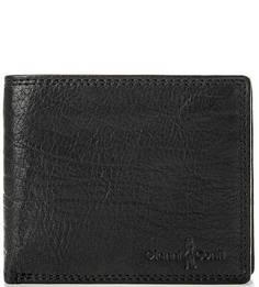 Черное портмоне из натуральной кожи Gianni Conti