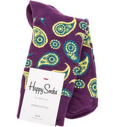 Фиолетовые хлопковые носки Happy Socks
