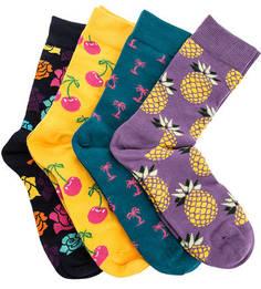 Комплект из 4 пар хлопковых носков Happy Socks