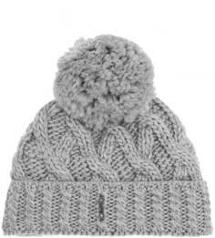 Вязаная шапка из шерсти и полиакрила с помпоном Capo