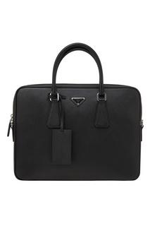 Кожаная сумка Prada